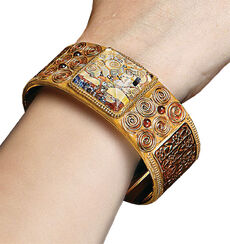 "Bracelet ""Stoclet Frieze"" - by Gustav Klimt"