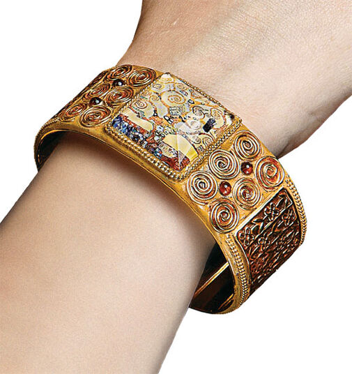 "Petra Waszak: Bracelet ""Stoclet Frieze"" - by Gustav Klimt"