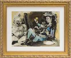 "Picture ""Unnamed"" (1954) in a Baroque Frame"