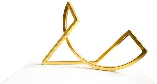 "Sonja Edle von Hoeßle: Skulptur ""Schleife 33 - Gold Edition"" (2015)"