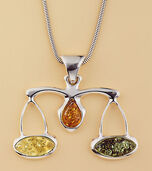 "Amber Necklace ""Libra"""