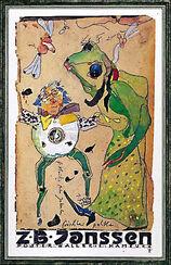 "Bild ""Fröschle Polka"", 1992, gerahmt"