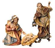 """Krippenfiguren """"Heilige Familie"""", handbemalt"""