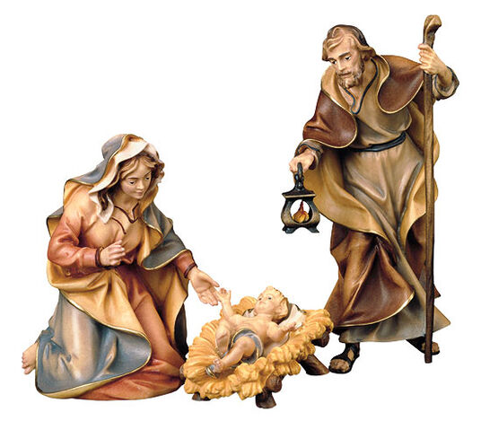 Nativity figurines 'Holy Family', hand-painted