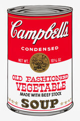 "Bild ""Warhols Sunday B. Morning - Campbell´s Soup - Old Fashioned"" (1980er Jahre)"