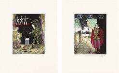 """2 Bilder """"Zauberflöte"""" und """"Don Giovanni"""" im Set"""