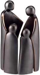"Skulpturengruppe ""Familie mit 2 Kindern"", Bronze"