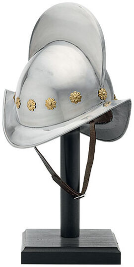 """Morion (helmet)"" on a stand"