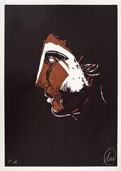 """Bild """"Mykenisches Lächeln 4 (braun-hellbraun)"""" (1986/2013)"""