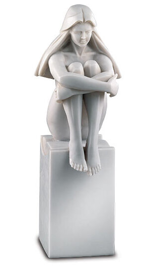 "Jürgen Götze: Sculpture ""look into the future"", artificial marble edition"