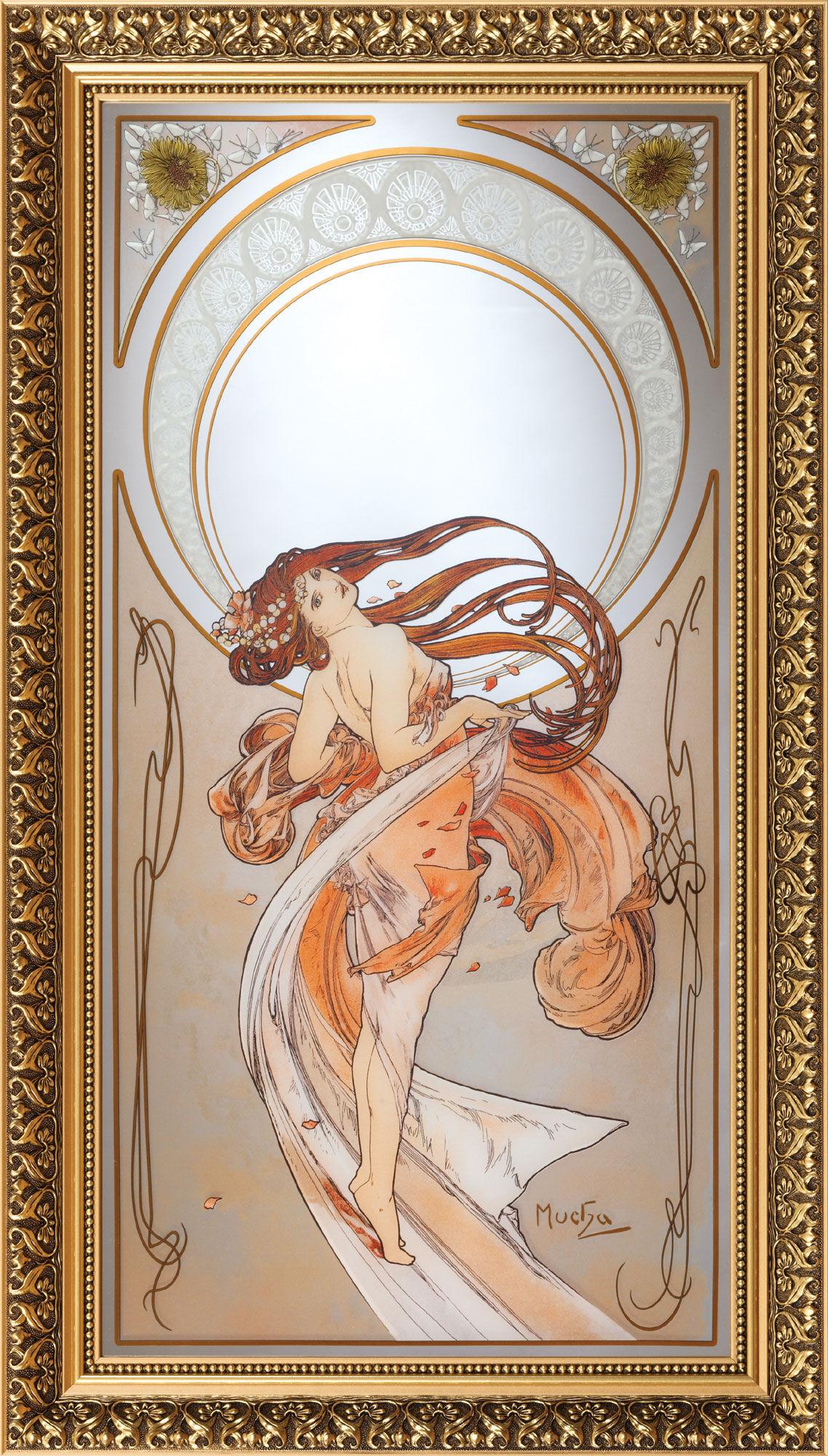 "Alphonse Mucha ""The Dance"" Wall Mirror for Sale"