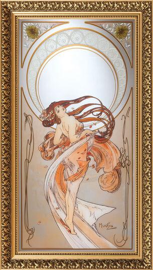 "Alphonse Mucha: Wall mirror ""The Dance"" (1898)"