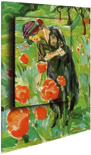 "Edvard Munch: Bild ""Frau mit Mohnblumen"" (1918/19), Dimension 2"