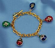 "Russisches Zareneier-Armband ""Anastasia"", vergoldet"