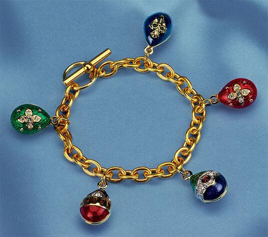 """Russian Tsar Eggs  """"Anastasia"""", Bracelet Gilded"""