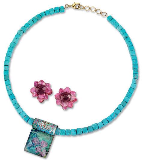 Petra Waszak: Jewelry set 'Water Lilies'