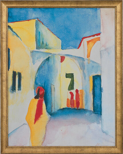 "August Macke: Picture ""View on an Alley"" (1914)"