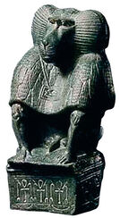 God Thoth as baboon