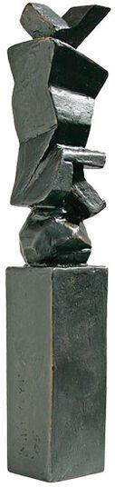 """Friedemann Grieshaber: Skulptur """"Verkehrte Welt"""" (2005), Bronze"""