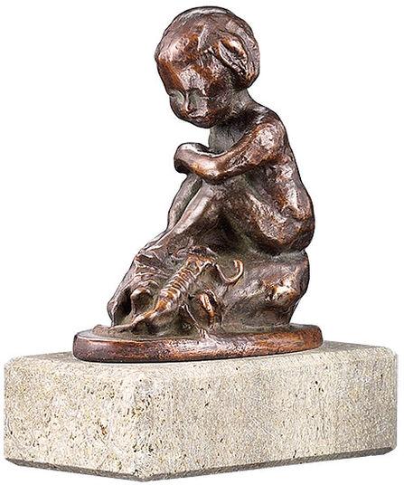 "Elisabeth Ehrhardt: Zodiac sculpture ""Scorpio"", metal casting"