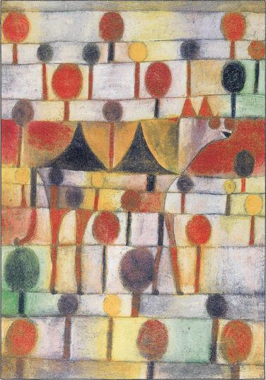"""Paul Klee: Teppich """"Kamel in rhythmischer Baumlandschaft"""" (230 x 160 cm)"""