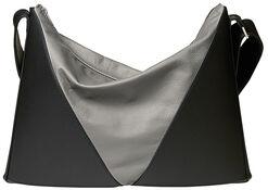 """Shoulder Bag """"Accordion"""", Version Black and Grey"""