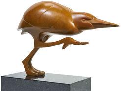 "Skulptur ""Kwak Nr. 4"", Bronze braun"