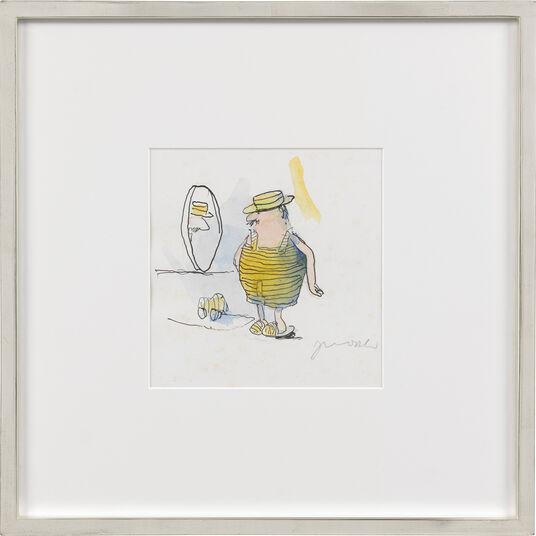 """Janosch: Bild """"Schöner Wondrak mit Hut"""" (Unikat)"""