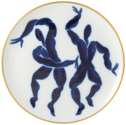 """Desser Plate """"Cronos + Hyperion"""" with Gold Decor - from The Collection Bacchanale from Bernardaud"""