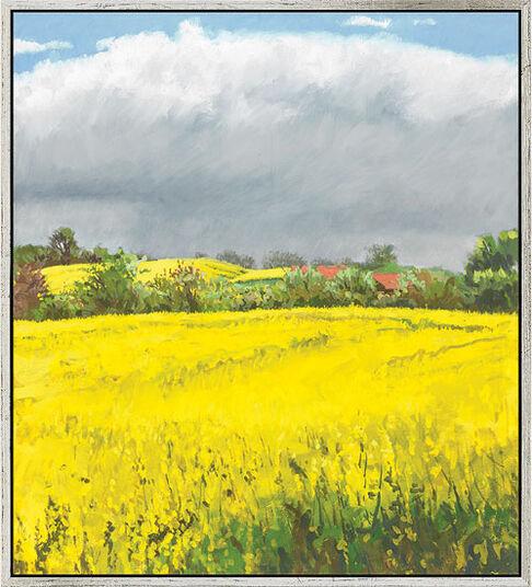 """Frank Suplie: Bild """"Es wird gleich regnen"""" (2010) (Original / Unikat), gerahmt"""