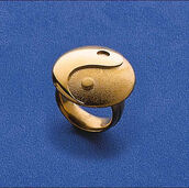 "Ring ""Yin and Yang"",  925 sterling silver gilded"