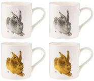 "4er-Set Kaffeebecher ""Feldhase"", Porzellan"