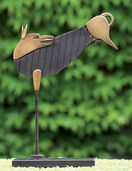 "Sculpture ""Jumping dog"" bronze"
