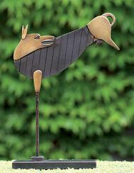 """Sculpture """"Jumping dog"""" bronze"""