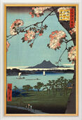 "Painting ""Suijin Grove and Masaki"" (1856-58) in a frame"