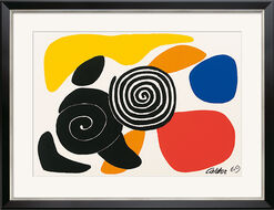 "Painting ""Spirals and Petals"" (1969), Framed"