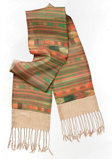 """Petra Waszak: Pashmina scarf """"Colours of Africa"""""""