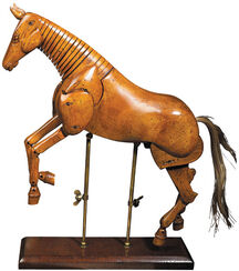 Horse Sculpture from Wood