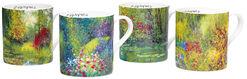 4 Kaffeebecher mit Künstlermotiven im Set