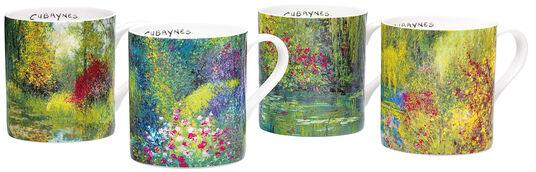 Jean-Claude Cubaynes: 4 Kaffeebecher mit Künstlermotiven im Set