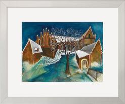 """Bild """"Kloster Chorin im Schnee"""" (Original / Unikat), gerahmt"""
