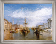 "Painting ""Canale Grande"" (1835) in a frame"
