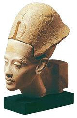Akhenaten portrait head with attached crown