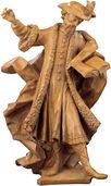 """Skulptur """"Cosmas"""", Kunstguss Holzfinish"""