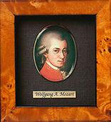 Miniature portrait of Wolfgang Amadeus Mozart (1756-1791)