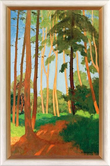 """Felix Vallotton: Bild """"Die Waldlichtung"""" (1911), gerahmt"""