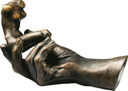 "Sculpture ""Hand of God"" (1917), version in polymer bronze"