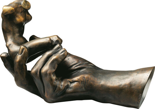 "Auguste Rodin: Sculpture ""Hand of God"" (1917), version in polymer bronze"