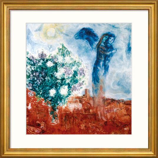 """Marc Chagall: Bild """"Die Liebenden über St. Paul"""" (1970-71), gerahmt"""