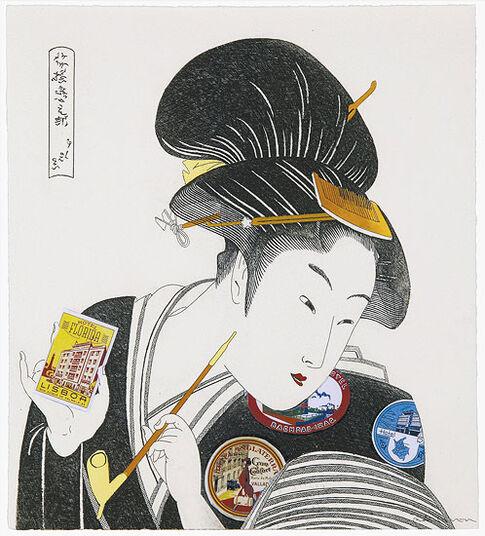 """Fernando Bellver: Bild """"Geisha Equipaje"""" (2009), ungerahmt"""